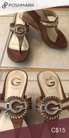 Shop Women's Guess size 8 Wedges at a discounted price at Poshmark. Description: Guess wedges, slightly worn, sparkly Guess G on the top. Guess Shoes, Plus Fashion, Fashion Tips, Fashion Trends, Wedge Shoes, Wedges, Heels, Closet, Top