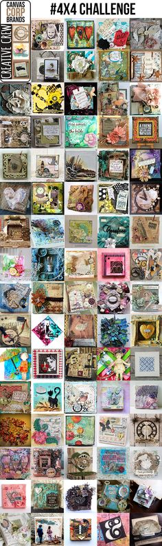 4x4 canvas challenge - canvas corp brands creative crew design work - vintage, mixed media, junk yard finds, painted, stamped, steampunk, shabby chic, romantic vintage, historic....a touch of 7gypsies #4x4challenge #canvascorpbrandscrew