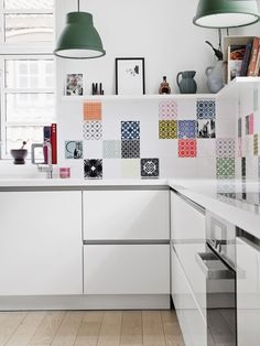 Creative Ideas For Home Decor, Decorating your house is no simple feat. A significant part the home buying process is having an expert home inspector go through the home to figure o. Leftover Tile, Painted Brick Walls, Yellow Cabinets, Home Buying Process, Scandinavian Kitchen, Open Concept Kitchen, Cuisines Design, Creative Home, Creative Decor