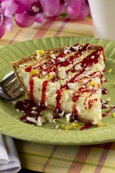 This light and creamy pie features the tasty combination of lemon and raspberry. It's the perfect summer pie recipe.