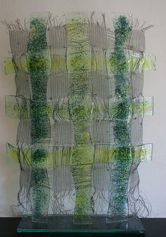 Anneke Kersten - 2011 glasweven geel/blauw
