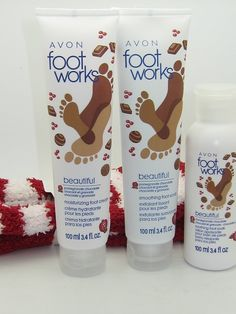 Avon Foot Works Pomegranate Chocolate Set