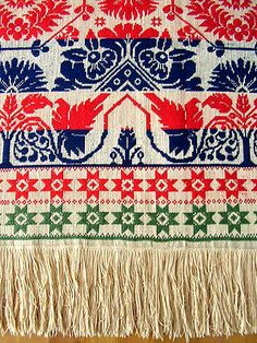 Antique Coverlet JACOB DARON 1846 Pennsylvania MUSEUM QUALITY Signed + Dated