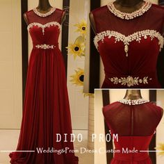 Custom Made Burgundy Prom DressBeaded Prom by DidoProm on Etsy, $159.00