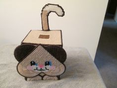 Tissue Box Mouse Boutique Style in plastic Canvas by CraftsforSalebyJune on Etsy