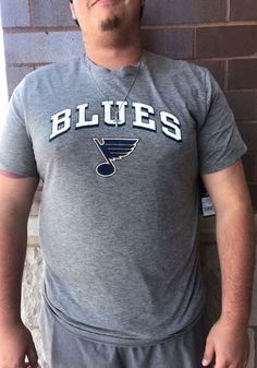47 St Louis Blues Grey Victors Match Triblend Short Sleeve Fashion T Shirt - 48005726