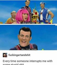 Or smile, or chuckle, or at least not be bored! And you can always find some chuckle worthy funny pictures (memes) - a direct view of what people are uploading to our site now. Sportacus Lazy Town, Lazy Town Memes, Funny Jokes, Hilarious, E Mc2, Funny Pins, Funny Stuff, Random Stuff, Tumblr Funny