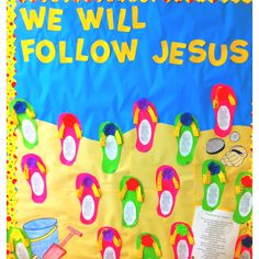"""Love the flip flop cut outs-- maybe for a K board say """"you will flip over our work!"""""""