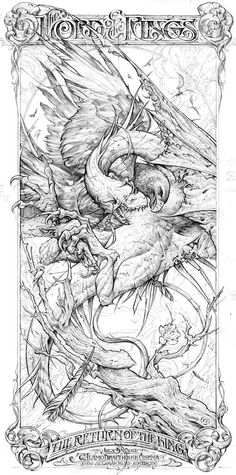 Aaron Horkey - return of the King Sketch
