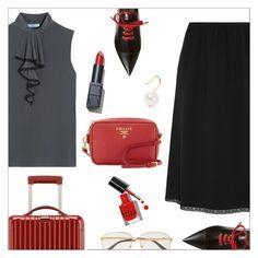 """Pack and Go: Rio"" by danielle-487 ❤ liked on Polyvore featuring Prada, Rimowa, Gucci, NARS Cosmetics, Aurélie Bidermann, Bobbi Brown Cosmetics and rio"