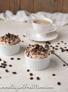 Sugar-Free Coffee Creme Mousse {Keto, Low Carb}