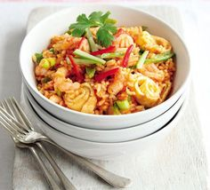 Thai prawn fried rice   This delicious Asian supper is faster, healthier and cheaper than a takeaway - ready in a super-quick 20 minutes