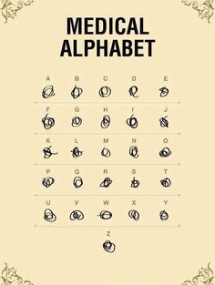 Medical alphabet  // funny pictures - funny photos - funny images - funny pics - funny quotes - #lol #humor #funnypictures