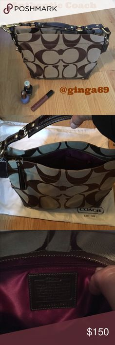 Authentic Coach purse  Authentic medium Coach purse . Never used in excellent condition you won't find better storage bag included Coach Bags Totes