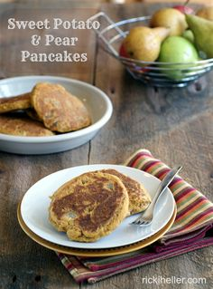 Gluten Free Sweet Potato and Pear Pancakes