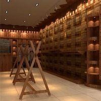 Estilo country americano padrão de madeira wine bar papel de parede revestimento de parede papel de parede de restaurante