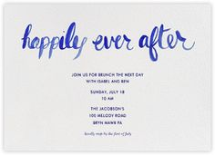 Gather Everyone Together For One Last Celebration At A Post Wedding Brunch  With Custom Online Invitations.