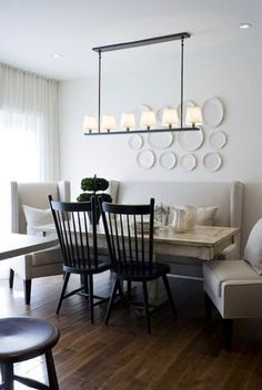 Dining Room Banquette Bench Best Of Banquette Benches are Back Kitchen Dining Design Dining Room Banquette, Leather Dining Room Chairs, Banquette Seating, Dining Area, Settee Dining, Booth Seating, Wood Chairs, Table Seating, Dining Tables