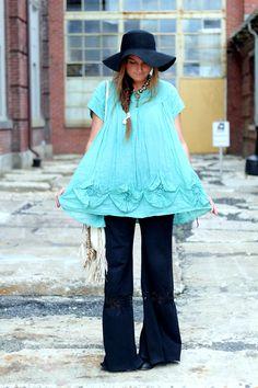 girl with awesome boho style