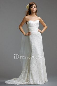 nice slim top. slim a-line sweetheart wedding dress with dropped waist from idress.co.nz