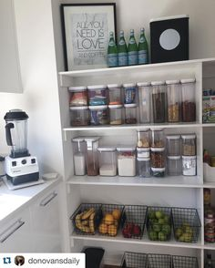 Pantry inspo by @donovansdaily which features the black wire baskets 👌🏻 love an organised pantry! thanks for the tag Hun x  #kmartaddictsunite #kmartstyling #kmartaus #kmarthome #kmartliving #kmart #kmartbargains #kitchenorganisation #kmartmelbourne