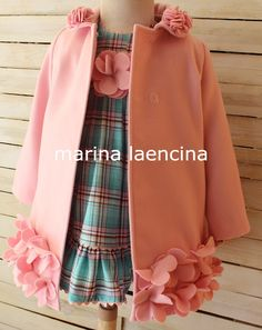 Marina Laencina Más Little Girl Outfits, Little Girl Dresses, Baby Outfits, Kids Outfits, Baby Girl Dresses, Baby Dress, Little Girl Fashion, Kids Fashion, Couture Bb