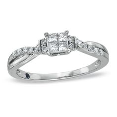 This is my engagement ring! This is technically a promise ring, but I like this setting a lot more than the engagement rings I saw...before our wedding we are going to replace the four diamonds in the center with one diamond :)
