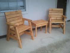 How To Build 2 Outdoor Arm Chairs And A Side Table – Jays Custom Creations