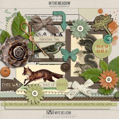 Outdoor, fun, play. In The Meadow Paper Pack is filled with earth colors for scrapping your outdoor adventures.