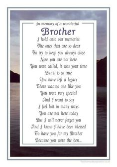 Image result for anniversary of brother's death quotes