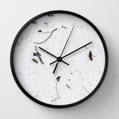 white space Wall Clock by ilyayavnoshan Wall Clock Frame, Unique Wall Clocks, White Space, Concrete Wall, Wall Design, Natural Wood, Decor Styles, Design Trends, Graphic Design