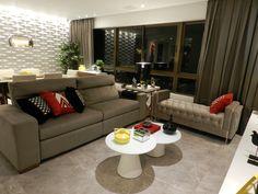 Apartamento 120m2 Recife- Home Decor- Colors Decor- Decoração com Cores-Decoração- Arquitetura Residencial- Design de Interiores- Sala de Estar e Jantar- Revestimentos 3D- Composição de Objetos