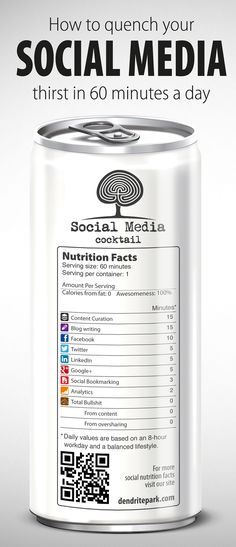 How to quench your Social Media thirst in 60 minutes a day #infographic