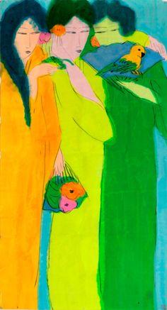 Exposition Walasse Ting (1928-2010). Le voleur de fleurs -  Musée Cernuschi, Paris - Jusqu'au 26/02/17