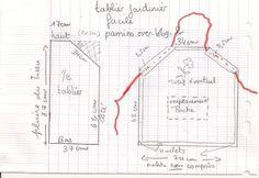 Patron couture couture and cuisine on pinterest - Patron pour faire un tablier de cuisine ...