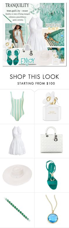 """""""Untitled #1887"""" by elena-777s ❤ liked on Polyvore featuring We Are Handsome, Halston, Marc Jacobs, Alaïa, Christian Dior, Maison Michel, Sergio Rossi, Ippolita, 2017 and springsummer2017"""