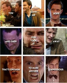 That's enough to make anyone dangerous. Doctor Who Virginia Woolf, Peter Davison, Eleventh Doctor, Torchwood, David Tennant, How To Run Faster, Dr Who, Superwholock, Best Memes