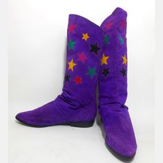 70's Purple Star Boots Suede @Anya Thibodeaux ;-) to match the dress!