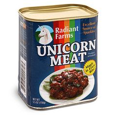 White Elephant Gift ideas: Unicorn meat (OMG so getting this for my dad), bacon flavored toothpaste, chia pet or cheetah-print snuggie