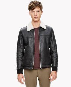 fur collar leather jacket mens
