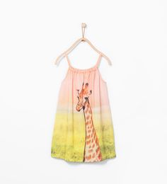 Giraffe print dress-Girl-Kids-BEACH HOLIDAY | ZARA United States