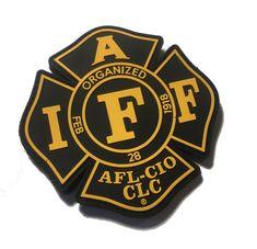 "Four  4/"" IAFF Decals Exterior Mount PLEASE READ AUCTION"