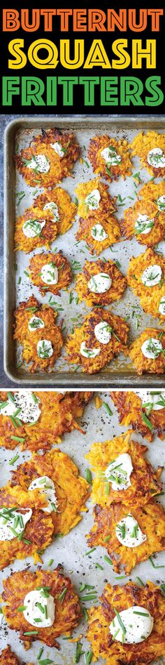 Butternut Squash Fritters - These are easier to make than you think, low calorie, addictive and amazingly crisp-tender! A must-have appetizer for everyone!