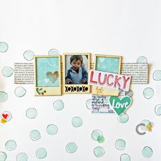#Papercraft #Scrapbook #Layout. Lucky by MandieLou at @studio_calico