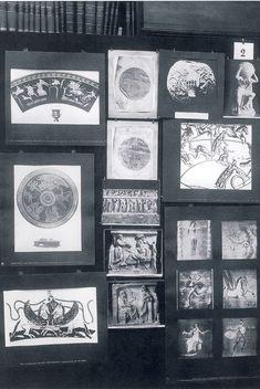 Panel número 2 ('Representación griega del cosmos') del Atlas Mnemosyne (Akal), de Aby Warburg. Atlas, Panel, Art History, Writers, Studios, Gallery Wall, Culture, Memories, Frame