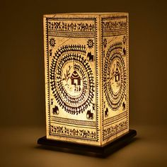 Shady Ideas Warli Table Lamp,Decorative Lamps-Table-Lamps