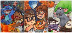 Lovable characters at Halloween by*AmyClark