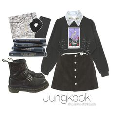☆ study work with Jungkook ☆ Kpop Fashion Outfits, Korean Outfits, Grunge Outfits, Girl Outfits, Cute Comfy Outfits, Simple Outfits, Pretty Outfits, Casual Outfits, Look Fashion
