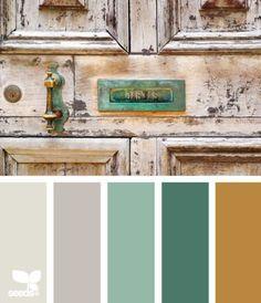 Aged tones color pallete.