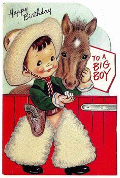 Cowboy feeding sugar cubes to Horse